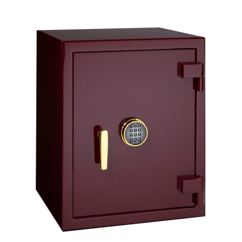 Sapphire in Burgundy with Brass