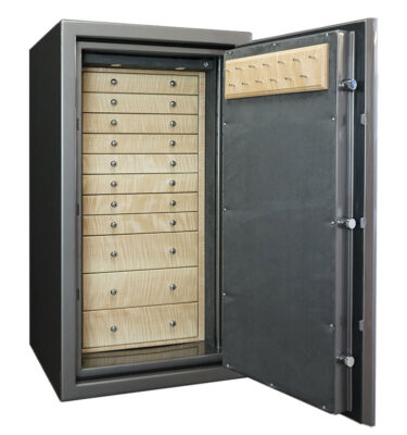 Amethyst Jewelry Safe with 11 Drawers