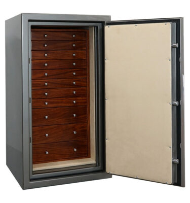 Casoro Amethyst Jewelry Safe with 11 drawers