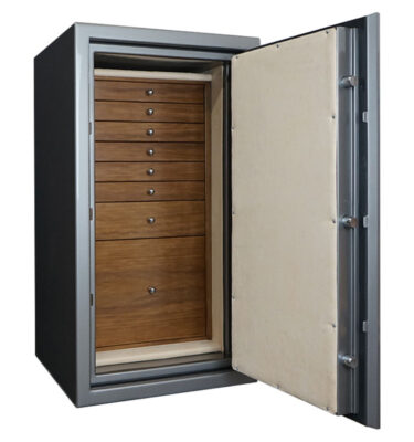 Casoro Amethyst Jewelry Safe with 7 drawers + file