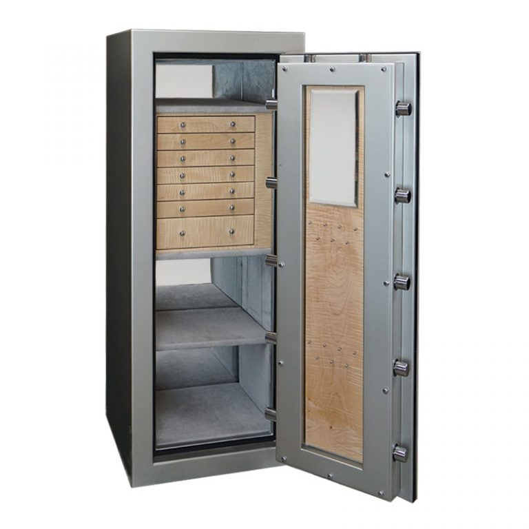 Emerald Jewelry Safe with 7 Drawers & Necklace Rack
