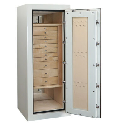 Casoro Emerald Jewelry Safe with Velvet Lined Drawers