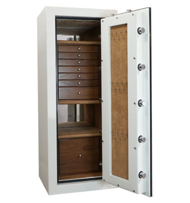 Casoro Emerald Jewelry Safe with 7 Drawers + File