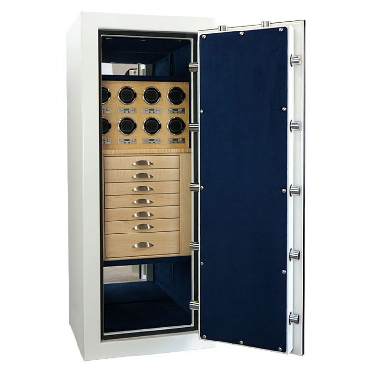 Casoro Emerald Jewelry Safe with 8 watch winders and 7 drawers