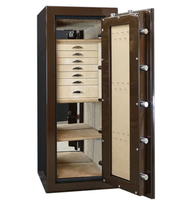 Casoro Jewelry Safe with Drawers and LED Lighting
