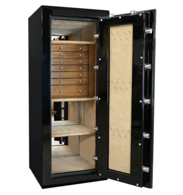 Casoro Emerald Jewelry Safe with 7 Drawers