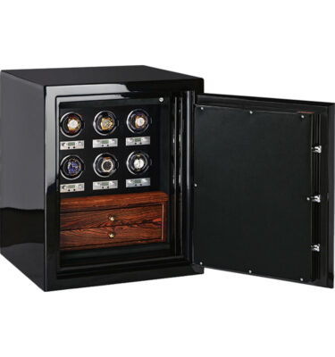 Sapphire Jewelry Safe with 6 Watch Winders and 2 Drawers