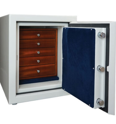Topaz Jewelry Safe in Alabaster