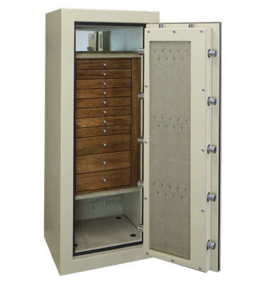 Casoro C54 Jewelry Safe with 11 Drawers and Necklace Hangers