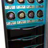 Gen 2 K2 with Piano Finish Black drawers and Robins Egg Blue Watch Winders Panel