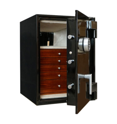 TL-15 Sapphire Luxury Jewelry Safe in Onyx from Casoro Jewelry Safes