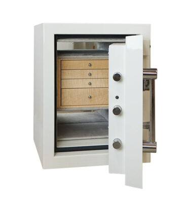 High Security TL-30 Jewelry Safe in Alabaster with 4 drawers