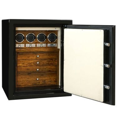 Sapphire in Onyx, Chrome, Bocote, Champagne, 4 Drawers, 4 Watch Winders