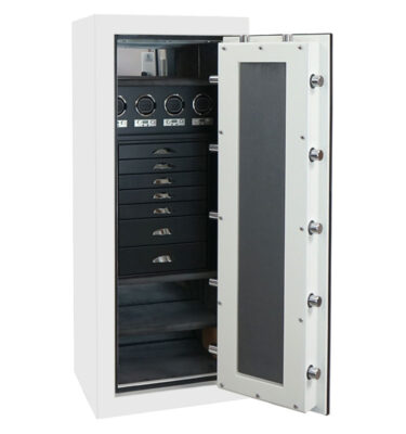 Emerald in Alabaster, Blackwood, Charcoal, 7 Drawers, 4 Watch Winders