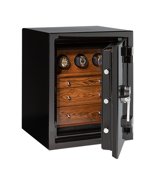 Sapphire In Onyx With Bocote Small Casoro Jewelry Safes