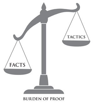 Burden of Proof- Facts vs Tactics