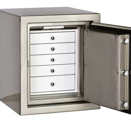 Topaz in Platinum, White and Silver Mist with 5 Drawers