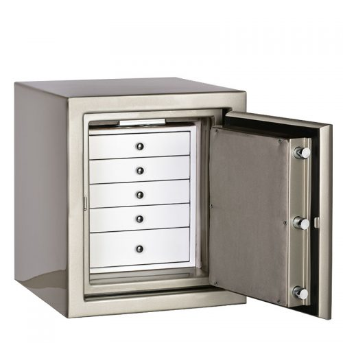 Casoro Topaz Jewelry Safe with 5 Drawers
